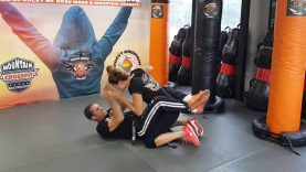 Guillotine Choke From The Guard 1 Krav Maga Orange belt