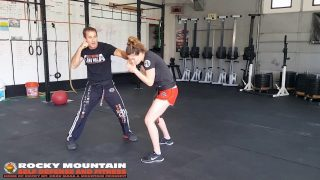 Krav Maga Two Handed Plucking Defense vs Front Choke  #rmsdf