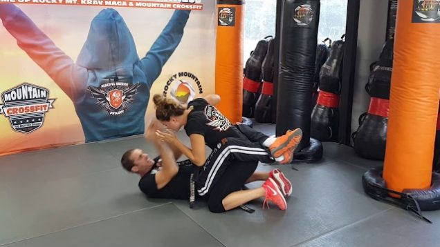 Guillotine Choke From The Guard 1 Krav Maga Orange belt